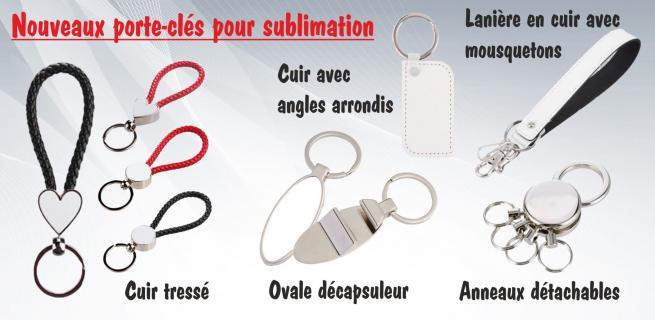 Porte-clés pour sublimation