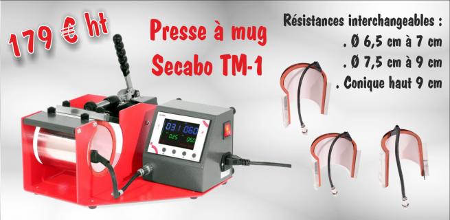 Presse à mug Secabo TM-1