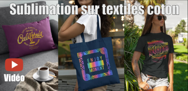 Sublimation sur textiles coton